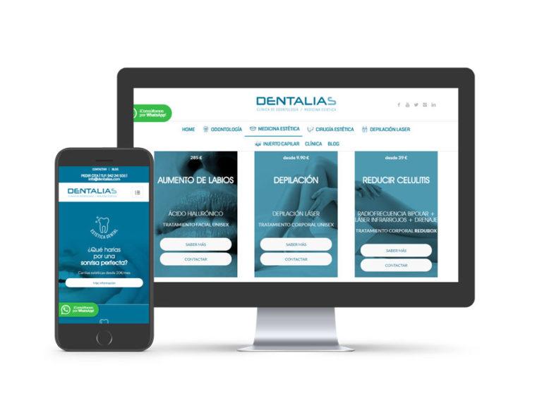 Diseño web para dentalias.com