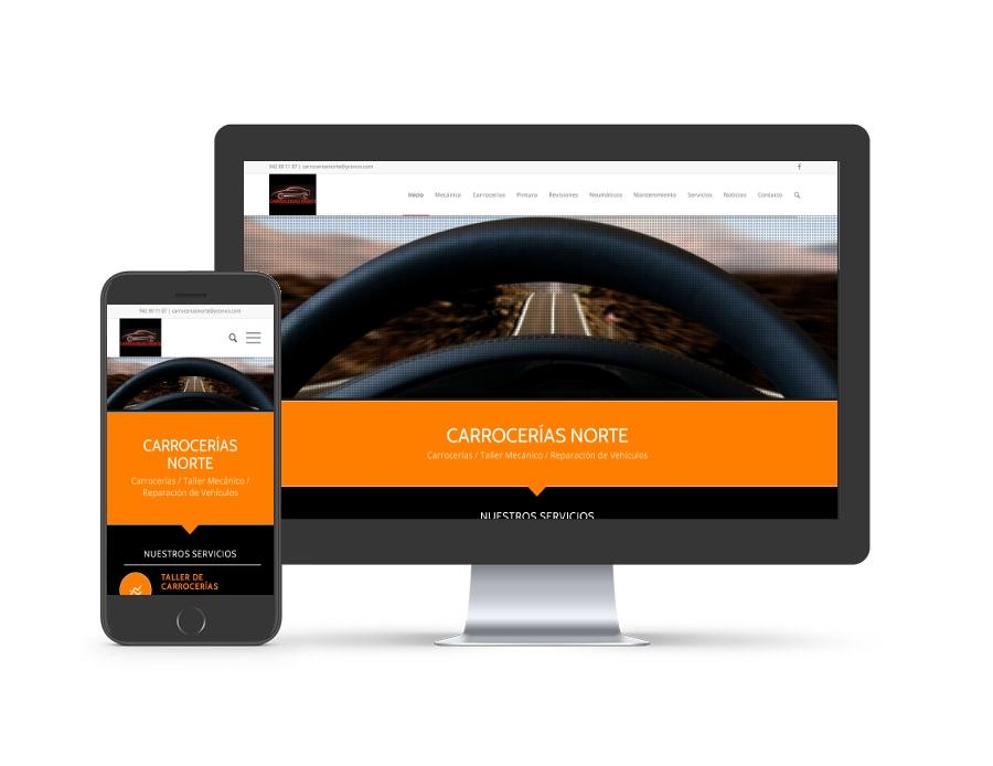 Diseño web para carroceriasnorte.net