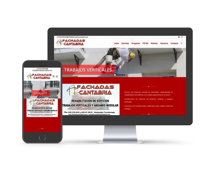 Diseño web para fachadascantabria.net