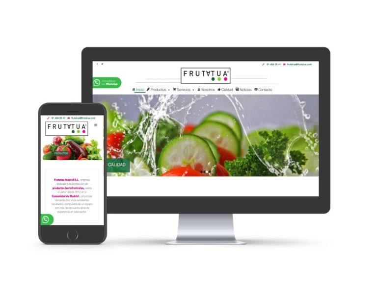 Diseño web para frutatua.com