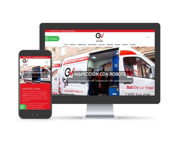 Diseño web para grupodelavega.es