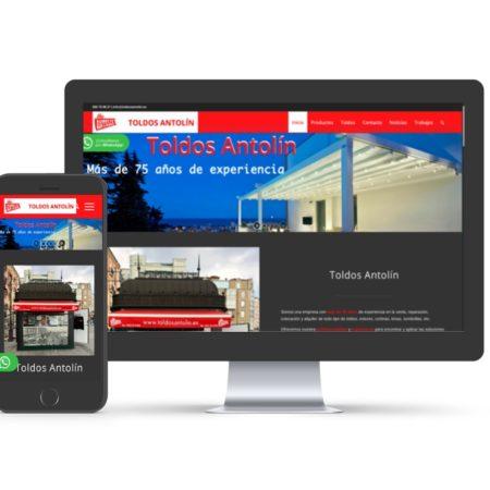 Diseño web para toldosantolin.es