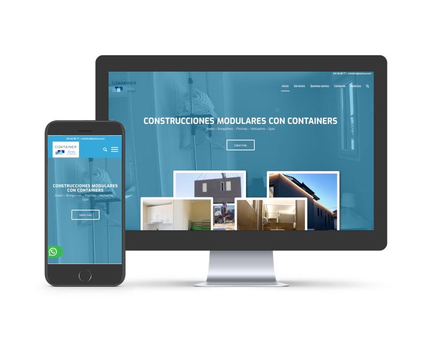 Diseño web para containerform.es